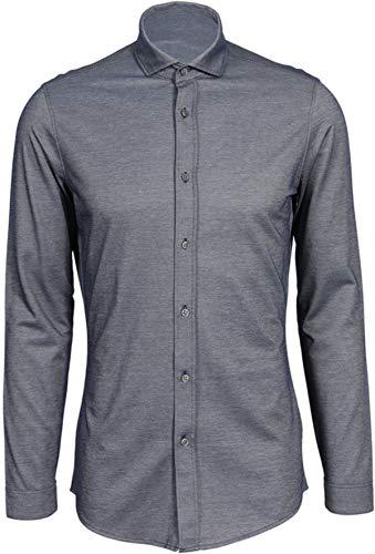 Drykorn Herren Hemd Solo in Blau meliert L