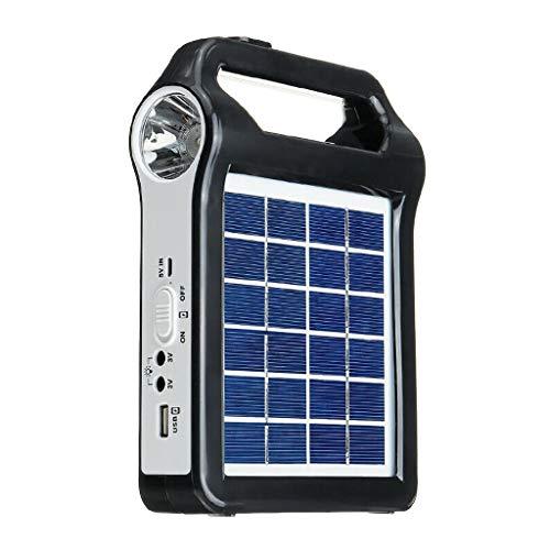 Yue668 - Panel solar extraíble, puerto USB del sistema de generador de...
