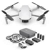 Caractéristiques: DJI Mavic Mini, portable et compact (249G), dans la classe de poids la plus basse et la plus sûre des drones. Une charge complète garantit 30 minutes de vol Cardan: le Mavic Mini permet des photos aériennes 12MP et des vidéos 2.7K Q...