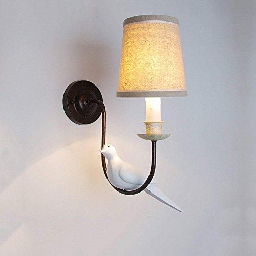 DSJ dubbele kop vogel wandlamp creatieve woonkamer retro wandlamp studie slaapkamer hotel bedlamp, enkel hoofd