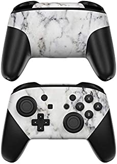 White Marble Decalgirl Skin Sticker Wrap Compatible with Nintendo Switch Pro Controller