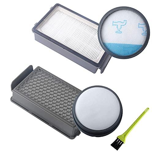 Poweka ZR005901 Kit de filtre à mousse et filtre HEPA avec brosse pour aspirateur Rowenta/Tefal/Moulinex Compact Power Cyclonic Series