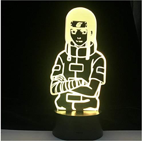 Orochimaru Naruto Naruto Hyuga Neji figura luz de noche lámpara de acrílico 3d para decoración de dormitorio de chico lámpara de escritorio de habitación de regalo para niños fresco Anime si