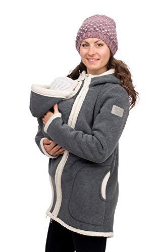 Viva la Mama - Winterjacke Mama und Baby Tragejacke warm Wintertragejacke Umstandsjacke für Winter - Arctica - grau - S
