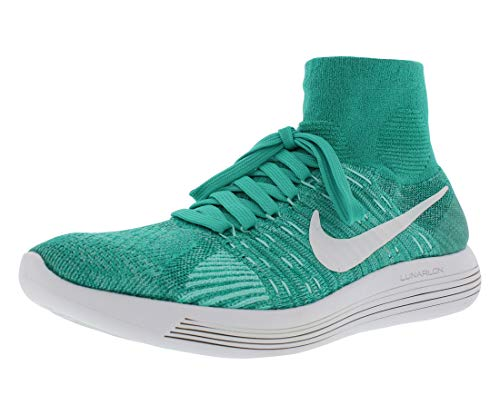 Nike Womens Lunarepic Flyknit Running Shoes (10 B(M) US, Clear Jade/White-Hyper Turq)
