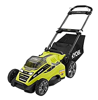 Ryobi RY40180 40V Brushless Lithium-Ion Cordless Electric Mower Kit with 5.0Ah Battery 19.88  x 40.748  x 22.677