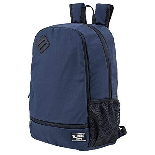 Skechers Unisex-Rucksack, lässig, für Erwachsene, mit Innentasche, iPad, Tablet, für den täglichen Gebrauch, bequem, vielseitig, Marineblau Sport, Einheitsgröße