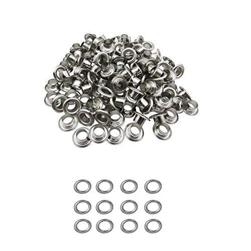 4Mm Grommets Eyelets And Washers Rust Proof For Fabric Curtains Leather Tarpaulin Arts & Craft