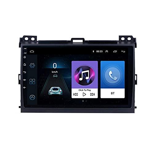 W-bgzsj Android 9.0 Coche Radio GPS Navegación GPS Player Multimedia para Toyota Land Cruiser Prado 2004-2009 Soporte SWC Bluetooth Manos Llamadas Gratis MirrorLink + Cámara de Respaldo