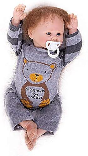 Hongge Reborn Baby Doll, Lebensechte Silikon Reborn Babys Wachstum Playmate Kindergeburtstagsgeschenk 48cm
