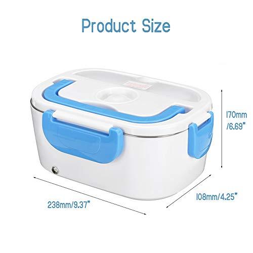 Joe Boxer Boîte à Lunch, 12V 110V 220V Box électrique Déjeuner 2 en 1 Voiture et Maison en Acier Inoxydable/Plastique Contenant à Lunchbox