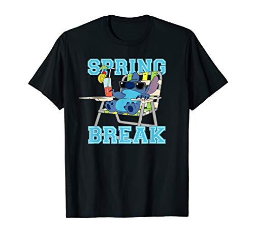 Disney Stitch Beach Chair Chill Spring Break T-Shirt