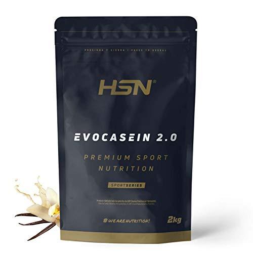 Caseína Micelar de HSN Evocasein 2.0 | Proteína para Antes de Dormir, Liberación Lenta de Aminoácidos durante la Noche | Vegetariana, Sin Gluten, Sabor Vainilla, 2 Kg