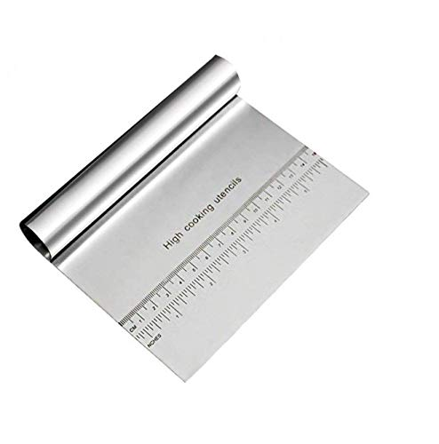 iChef ™ - Stainless Steel Cake Smoother with Scale Cutting Knife (Silver)