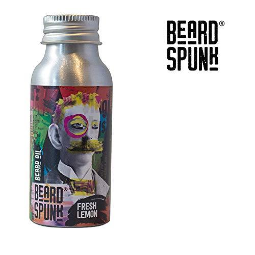 Baard Spunk ® SPECIALE EDITION FRESH LEMON Premium Baard & Snor Olie - Grote fles 50ml