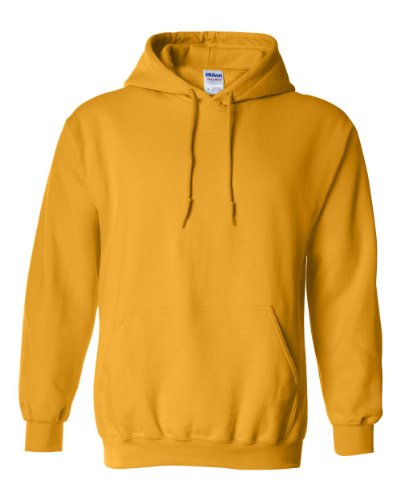 Gildan Adult Heavy Blend Hooded Sweatshirt (Gold) (Medium)