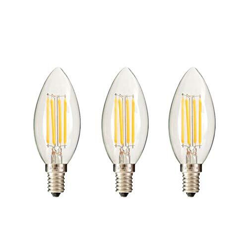 Uonlytech - Bombillas led (12 Unidades, E14, 220 V, luz Blanca Natural, 3000 K, Intensidad no Regulable, luz Blanca cálida)