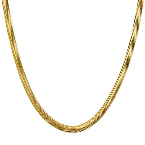 "Gemshop Gold Plated Designer Spiga Link Handmade Chain for Men, 20"" inches"