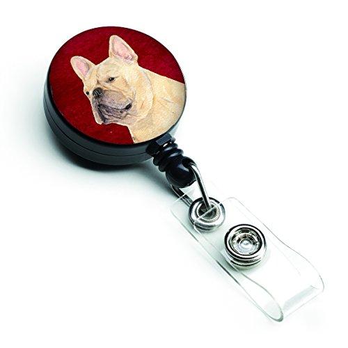 Caroline's Treasures SS6002BR French Bulldog Retractable Badge Reel or ID Holder with Clip, Belt Clip, Multicolor