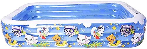 JIANGCJ Protección del Medio Ambiente Piscina Inflable Thick Resistente al Desgaste Pools Piscillas Inicio Piscinas para Interiores y al Aire Libre para niños Adultos (Size : 155X108X52cm)