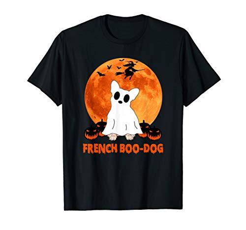 French Boo-Dog Funny French Bulldog Halloween Gift Men Women T-Shirt