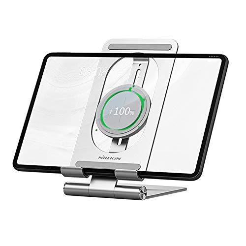 Nillkin Wireless ipad Charger Tablet Stand - 2 in 1 ipad Holder Charging Dock, Wireless Charging Stand for iPad Pro 12.9/iPad Pro 11, ipad 8/7/6/5 Gen, Air 4/3, Mini 4 3 2, Samsung Tab S7/S6/S5e