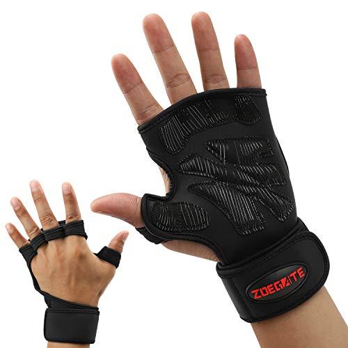 Fortunam Fitness Handschuhe mit stützender Handgelenkbandage Trainingshandschuhe für Damen und Herren Voll Palm Schutz & Extra Grip Sporthandschuhe Crossfit Gewichtheben Handschuhe für Kraftsport
