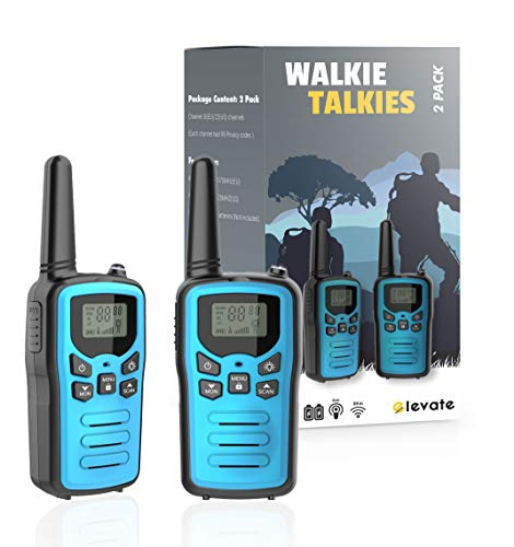 Walkie Talkies Long Range – 2Pcs Walkie Talkies for Adults & Children – 5 Mile Long Distance Walkie Talkies – Built In Flashlight – 4 Available Colours – Ideal for Nature, Camping, Hiking (BLUE)