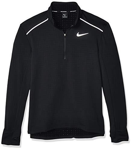 Nike Herren M NK SPHR ELMNT TOP HZ 3.0 Long Sleeved T-Shirt, Black/(Reflective silv), M