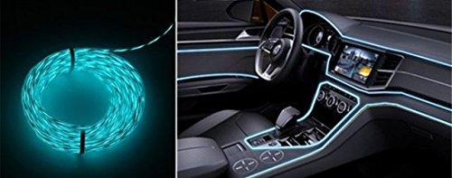 1x CRISTAL BLAU (2 Meter) AMBIENTEBELEUCHTUNG Inverter/Adapter Lichtleisten EL Strip Band Licht Ambiente Beleuchtung für moderner Innenraumbeleuchtung 12V für PKW Kfz Auto Wohnmobil - hallenwerk