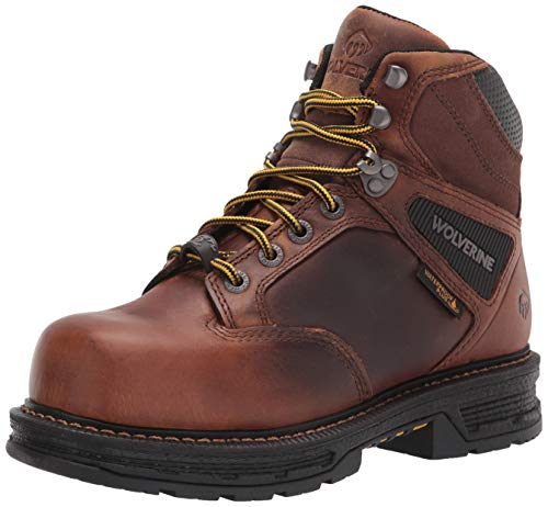 WOLVERINE Men's Hellcat CarbonMax 6' Boot Construction, Tobacco, 10.5