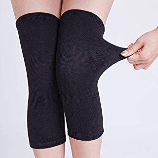Shopex Knee Warmer Protective Knee Support Cap Woolen Leg Warmer for Women & Men - Stretchable Free Size Winter Wear , Black