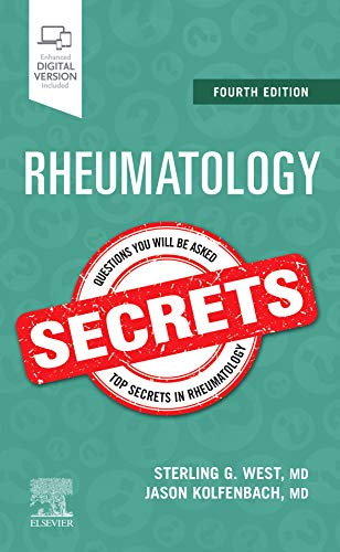 Compare Textbook Prices for Rheumatology Secrets 4 Edition ISBN 9780323641869 by West, Sterling