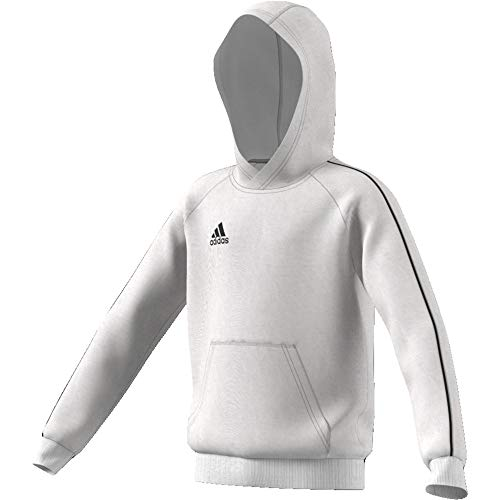 adidas Kinder Core 18 Hoody, white/Black, L (Manufacturer size:152)