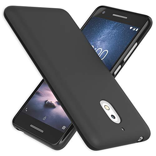 NALIA Custodia Protezione compatibile con Nokia 2.1 2018, Ultra-Slim Cover Case Resistente Protettiva Cellulare in Silicone Gel, Gomma Morbido Telefono Smartphone Bumper Copertura Sottile - Nero