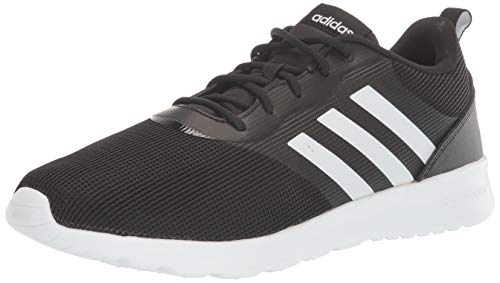 adidas Women's QT Racer 2.0 Running Shoe, Black/White/Onix, 6.5