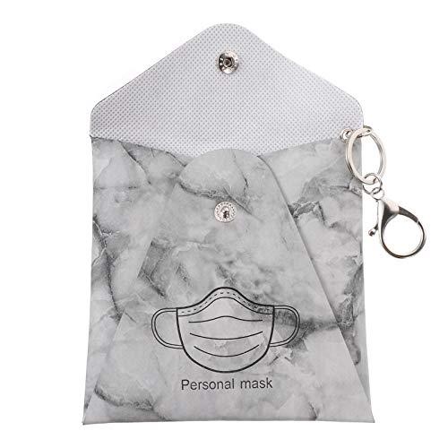TOYANDONA Münzbörse Mundschutz Hülle Aufbewahrung Plastikbox PU Leder Geldbörse Schlüsselanhänger Gesichtsschutz Aufbewahrungsbox Datei Ordner Kunststoff Box Etui Aufbewahrungsclip
