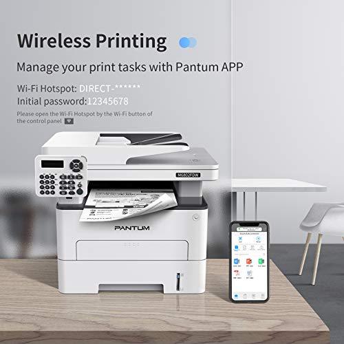 Pantum M6802FDW Impresora láser monocromo inalámbrico Fax todo en uno, red inalámbrica e impresión dúplex para uso doméstico y de oficina (V1X47B)