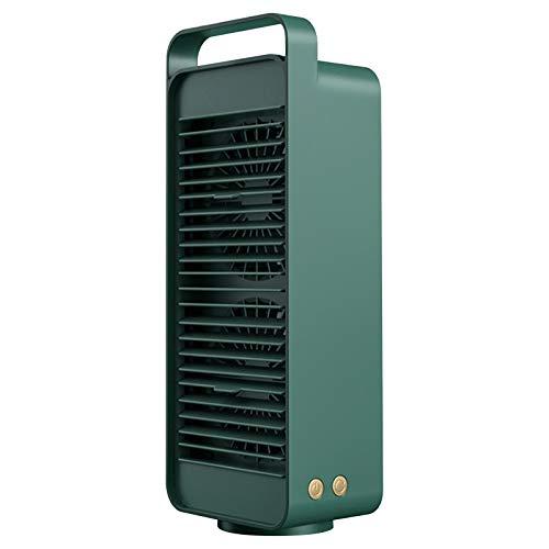 Condizionatore portatile con modalità di raffreddamento ad acqua, ventilatore da tavolo da 4000 mAh, funzionamento a batteria, silenzioso USB, ventilatore per bambini, studenti, adulti