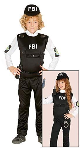 Fancy Me Kinder Jungen Mädchen FBI Agent Special Forces Police Cop Uniform Karriere Notfalldienst Kostüm Outfit 5-12 Jahre