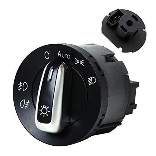 XINXIN LakerBig Interruptor de Control de Faros del Coche Fit para Volkswagen Passat B5 B6 Polo Touran Bora Passat CC VW Golf 4 MK5 Caddy Jetta Fog Lámpara de luz (Color : 5ND941431B)