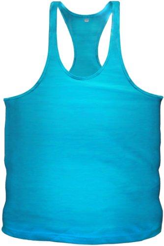 Bodybuilding Stringer Tanktop Fitness Muskel Muscle Shirt Vest in 12 Farben (XXL, Türkis)