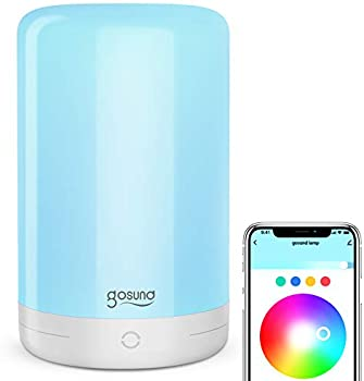 Gosund Dimmable RGB Touch Bedside Lamps Works with Alexa Google Home