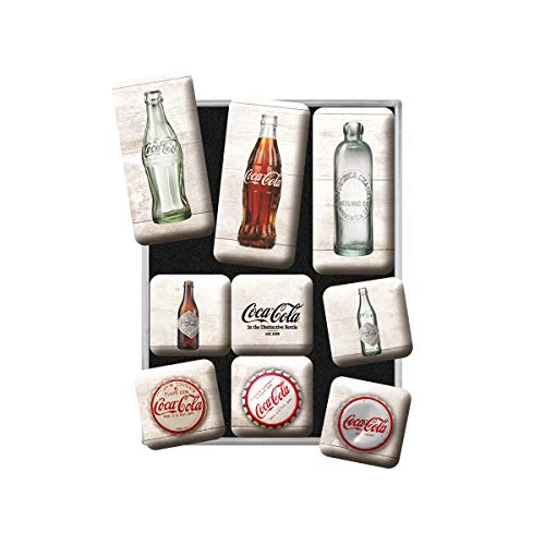 Nostalgic-Art Retro Kühlschrank Magnet-Set, Magnetset für Magnettafel, Bunt, 9 Stück