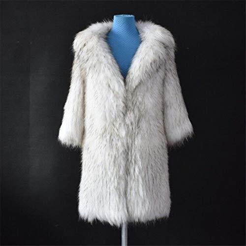 ZYJANO Warmer Mantel,natürlicher Waschbär Mantel Leder Gras dünne warme Damen Mantel europäischen Stil, Büste 95cm
