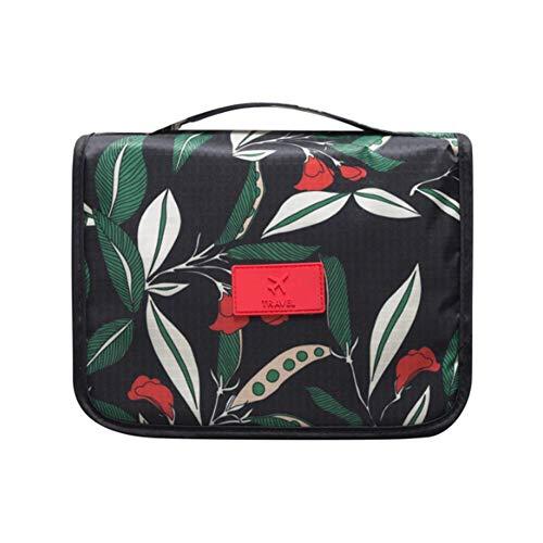 Sac de toilette Voyage, Sac cosmétique portable pliant, Trousse de toilette Crochet Organisateur cosmétiques pour hommes femmes 24CM