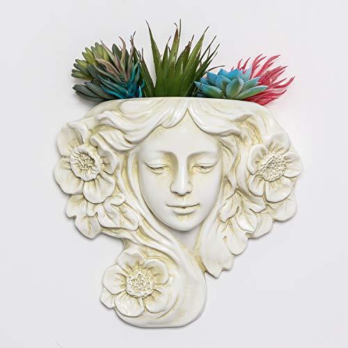 simpdecor Vaso per Piante sospeso e Vaso per fioriera a Parete, Decorazione per Parete sospesa Angel -Grande per Piante succulente Piante finte Decorazione per Appendere al Coperto o all aperto