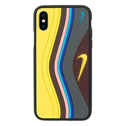 Coque pour iPhone 3D chaussure Air Max 97, Absorption des chocs Iphone X jaune