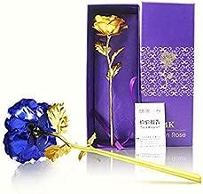 Lavanya Silver 24k Golden Rose and Blue Rose Combo Pack Gift Box (30 X 10 X 8 cm)