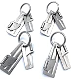 Starlines-(4) Sets of P-38 + P-51 Military Can Openers, Made in USA, with Stainless Steel Key Ring (12 piece bundle) With Starlines Instructions Card